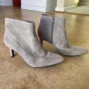 Naturalizer Gray Suede Booties- 8W